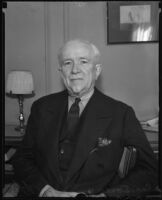 George H. Doran in his hotel suite in Los Angeles, 1935