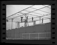 Workmen at Santa Anita Park construction site, Arcadia, ca. 1934