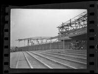 Final phases of construction at Santa Anita race track, Arcadia, ca. 1934
