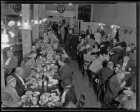 Salvation Army serves Christmas dinner for the needy and homeless, Los Angeles, 1935