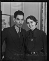 Dr. and Mrs. A. Pacheco Jorge visit Los Angeles, 1935
