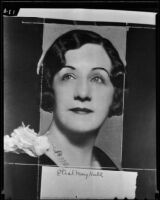 Ethyl May Halls, Vaudeville actress, returns to Hollywood, 1935