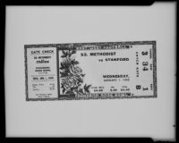 A Rose Bowl ticket from January 1, 1936, Pasadena, 1936