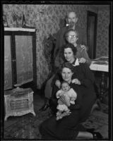 Five generations of the Watson family celebrate Christmas, Los Angeles, 1935