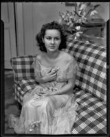 Barbara Read is given a new acting role, Laguna Beach, 1935-1936
