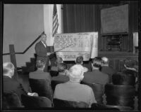 H. J. Wilder gives a lecture at Chaffey College convention, Ontario, 1935