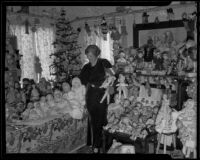 Harriet A. McCabe and her doll collection, Pasadena, 1935