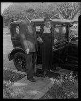 William and Nellie Rickerich celebrate 50 years of marriage, Pomona, 1935