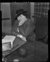Reverend Ethel Duncan arrested for tax evasion, Los Angeles, 1935