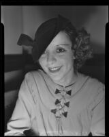 Dance instructor Marie M. Russell after her divorce, Los Angeles, 1935