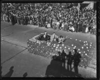 County Board of Supervisors car at the Tournament of Roses Parade, Pasadena, 1936