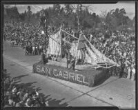 """Guadalupe"" float at the Tournament of Roses Parade, Pasadena, 1936"