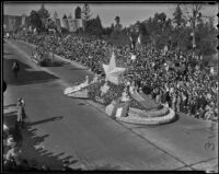 """Remember the Alamo"" float at the Tournament of Roses Parade, Pasadena, 1936"