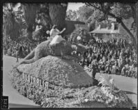 """Australia"" float at the Tournament of Roses Parade, Pasadena, 1936"