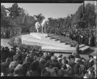 Tribute float to Will Rogers at the Tournament of Roses Parade, Pasadena, 1936