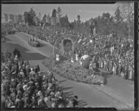 Will Rogers commemorative float at the Tournament of Roses Parade, Pasadena, 1936