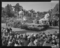 """Conquest of India by Alexander the Great"" float at the Tournament of Roses Parade, Pasadena, 1936"
