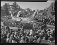 """Gondola"" float at the Tournament of Roses Parade, Pasadena, 1936"