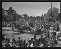 Portland Rose Festival float at the Tournament of Roses Parade, Pasadena, 1936