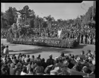 Metropolitan Water District float at the Tournament of Roses Parade, Pasadena, 1936