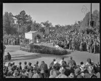 San Diego Exposition float at the Tournament of Roses Parade, Pasadena, 1936