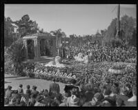 """Christopher Columbus"" float at the Tournament of Roses Parade, Pasadena, 1936"