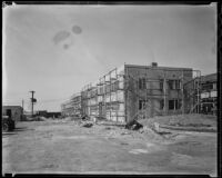 Construction of the North American Aviation Inc. plant at Mines Field, Los Angeles, 1936