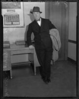 James A. Timony, producer, Los Angeles, 1935