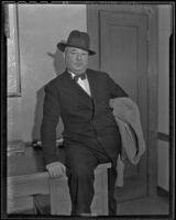 James A. Timony denies producing an indecent show, Los Angeles, 1936