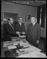 First building permit is drawn up under industry men Elmer H. Tyner, John J. Backus, and Leon H. Hoffman, Los Angeles, 1936