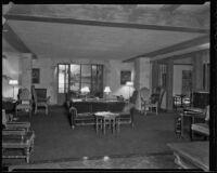 Lounge room of Stock Exchange Club, Los Angeles, 1935