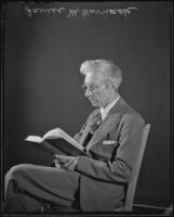 Los Angeles Times religion writer James M. Warnack, Los Angeles, ca. 1936