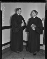 Judge Douglas Edmonds and Judge Edward Bishop, Los Angeles, 1936