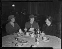 Los Feliz Women's Club members Helen Wisler, Mildred K. Spring and Lillie Weil, Los Feliz, 1936