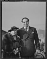 Otto Klemperer and Florence M. Irish after Klemperer's return to Los Angeles, 1936