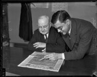 Judge Claude M. McCallum and Judge Robert Kenny, Los Angeles, 1936