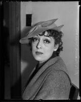 Rita Carewe divorces Edwin Carewe, Los Angeles, 1936
