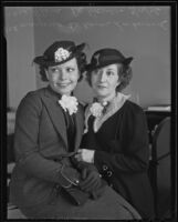 Recently divorced Marjorie De Haven Lockwood with her mother Flora De Haven, Los Angeles, 1936