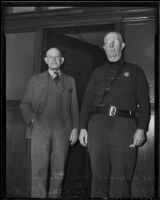 Murder suspect Samuel Whittaker and Dep. Sheriff J. A. Dixon, Los Angeles, 1936