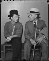 Samuel T. Whittaker and James Fagan Culver are arrested in connection with the murder of Ethel Whittaker, Los Angeles, 1936