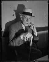 Murder suspect Samuel Whittaker, Los Angeles, 1936