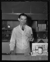 Restaurant waiter Hailey E. Howard, Los Angeles, 1936