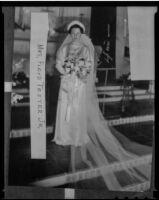 Louise Caroline Tester at her wedding to Floyd Tester, San Dimas, 1936