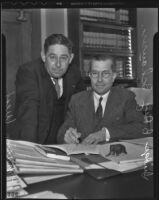 Judge Benjamin Rey Schauer and his pilot instructor Marian West, Los Angeles, 1936