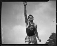 Adrian Davis, Compton Junior College discus thrower, 1936