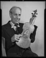Artist and violin-maker Mark J. Gast, Los Angeles, 1936