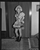 Louise Sterry in a Russian peasant costume, Los Angeles, 1936
