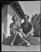 Mr. and Mrs. Frank Belcher on vacation, Palm Springs, 1936