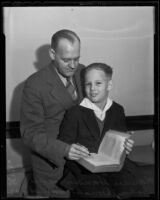 Lawyer Clarence Hansen officially adopts John Donald Hansen as his son, Los Angeles, 1936