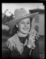 Gladyce Hoffman, candidate for rodeo day queen at California Pacific International Exposition, 1936